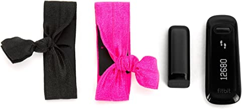 Griffin Black/Hot Pink Ribbon Wristband 2-Pack for Fitbit and for Sony Fitness Trackers - 2-Pack Wristbands