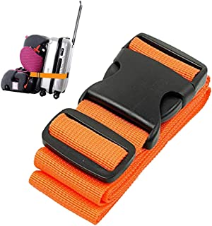 Car Seat Travel Belt, Car Seat Travel Strap to Convert Your Car Seat and Carry-on Luggage into an Airport Car Seat Stroller & Carrier (Orange)