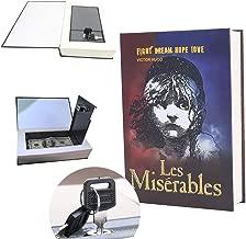 Kingsida Real Paper Book Locking Booksafe with Key Lock Dictionary Secret Hidden Safe (Les Miserables)