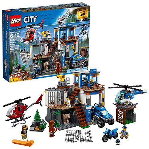LEGO City Mountain Police Headquarters 60174 Building Kit (663 Pieces)