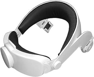 Jingtaihua Sangle de tête de Lunettes VR pour Oculus Quest 2 Sangle Elite Bandeau de Casque de Jeu VR réglable et Conforta...