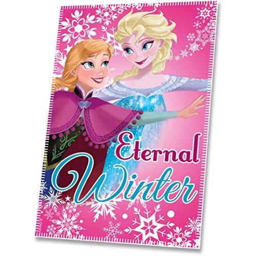 Disney - Frozen - Couverture Polaire rose Anna & Elsa