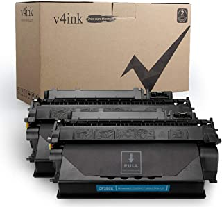 V4INK 2-Pack Compatible Toner Cartridge Replacement for HP 80X CF280X 80A CF280A Toner Ink High Yield for HP LaserJet Pro 400 M401 M401a M401d M401dn M401dne M401dw M401n MFP M425dn M425dw Printer