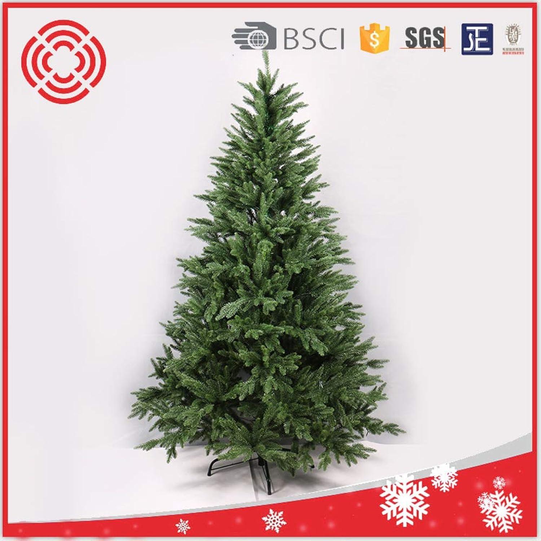 DW&HX Scharnier Künstlicher Weihnachtsbaum Kiefer, Grün Umweltfreundlich Prelit Weihnachtsbaum Ganz einfach aufbauen Stnder aus Metall Geflschte weihnachtsbaum-210CM 2.1m 6.9 ft