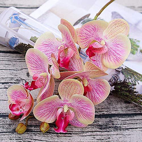 hhkhhgjo Künstliches Orchideen-Blumen-Schmetterlings-Orchideen-Motten-Ausgangshochzeits-Dekorations-Wirkliches Noten-Haus