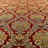 Reichhaltige Detail Damast exotischen rot floral Muster,