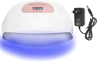 Lámpara de uñas LED UV 150W, Secador de uñas portátil Luz Temporización inteligente Esmalte en gel Máquina de curado de uñas Manicura Pedicura Kit de inicio de uñas en gel(EU PLug)