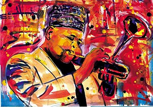 AFDRUKKEN-op-GEROLDE-CANVAS-saxofoon-Man-Spruill-Everett-Muziek-Afbeelding-gedruckt-op-canvas-100%-katoen-Opgerolde-canvas-print-Kunstdruk-op-gerold-canvas-Afmeting-49_X_70_cm
