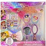 Townley Girl disney princess cheveux accessoires de jeu pour les filles, 3 ans et plus avec 20 pièces, y compris brosse à cheveux, miroir, bows tiara et plus, pour les parties, sleepovers et relooking