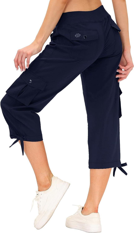 MoFiz Women's Cargo Capris いつでも送料無料 Hiking 豪華な Quick Lightweight Pants Dry Ru