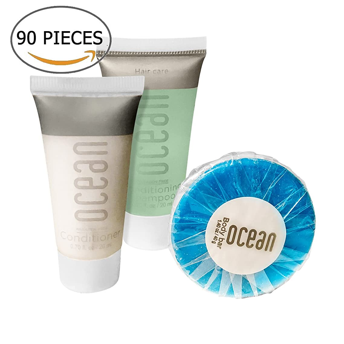 Ocean Collection BNB Amenity Travel Bath and Shower Set (90 Piece)