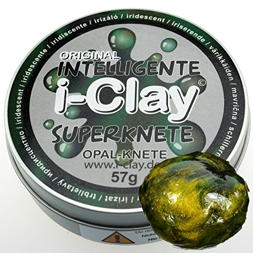 Intelligente Superknete I-Clay Dose Opal Grün/Dunkelgrün Knete