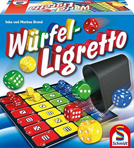 Schmidt Spiele 10V61019995V10 49611 Würfel Ligretto, Würfelspiel, Bunt