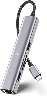 USB C Hub Multiport Adapter, MacBook Pro USB Adapter, Aluminum USB Type C Hub for MacBook, iPad Pro, XPS, and More, with U...
