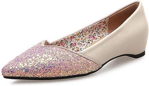 Oudan Panier à Chaussures Peu Profond (Couleuré   Rose, Taille   37)