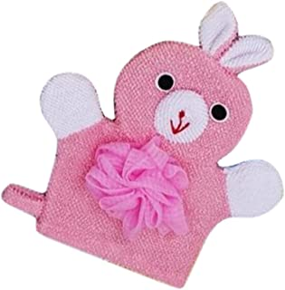 Cute Cartoon Baby Bath Sponge Gentle Exfoliating Bath Glove (Pink)