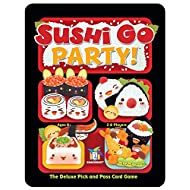 Gamewright Sushi Go Party! - The Deluxe Pick & Pass Card Game, Multicolored