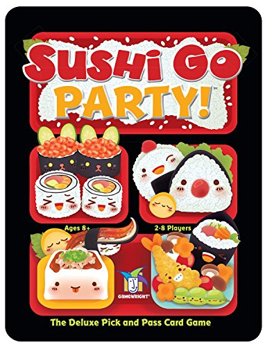Cheapest Price! Gamewright Sushi Go Party! - The Deluxe Pick & Pass Card Game, Multicolored