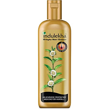 Indulekha Bringha Shampoo, Ayurvedic Medicine For Hair Fall, Free From Parabens, Synthetic Dyes And Synthetic Perfume, 100ml