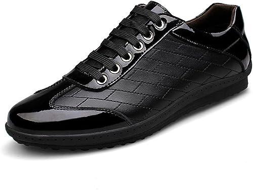 Hommes Loisir Chaussures en cuir Chaussures de sport Chaussures décontractées Antidérapant Formateurs Chaussures plates EUR TAILLE 38-45