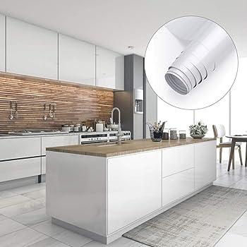 Möbelfolie Küchenschränke Aufkleber Klebefolie aus PVC 8x8cm Tapete  selbstklebende Folie Küchenfolie mit Glitzer rückstandslos und kein Geruch