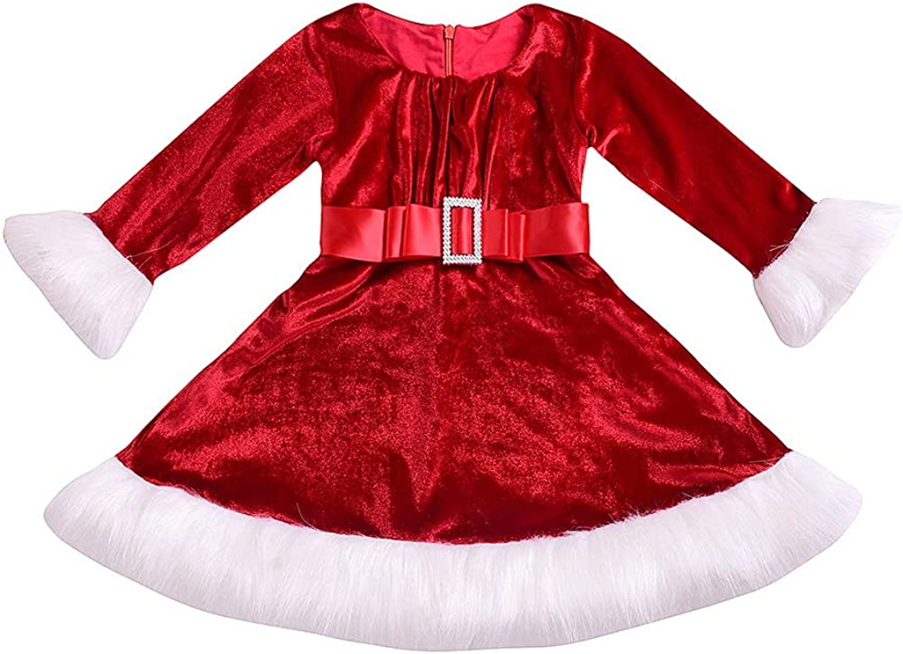 Toddler Baby Girls Christmas Dress 55% OFF Long-Sleeves Bl Plaid Red Cheap sale