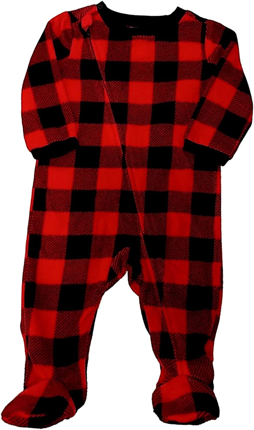 North Pole Baby Buffalo Plaid Footed Sleeper 18 Months