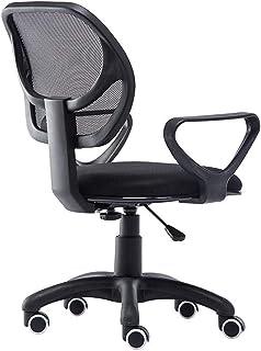 HEMFV Silla de escritorio ergonómica Las sillas de oficina ordenador silla ergonómica Escritorio Silla de apoyo lumbar de malla de tareas Presidente Ejecutivo armas modernas, ajustable respaldo alto S