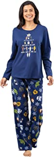 PajamaGram Star Wars Pajamas Women - Adult Christmas Pajamas, Dark Blue