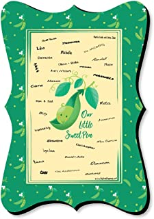 Sweet Pea in a Pod - Unique Alternative Guest Book - Baby Shower or First Birthday Party Signature Mat