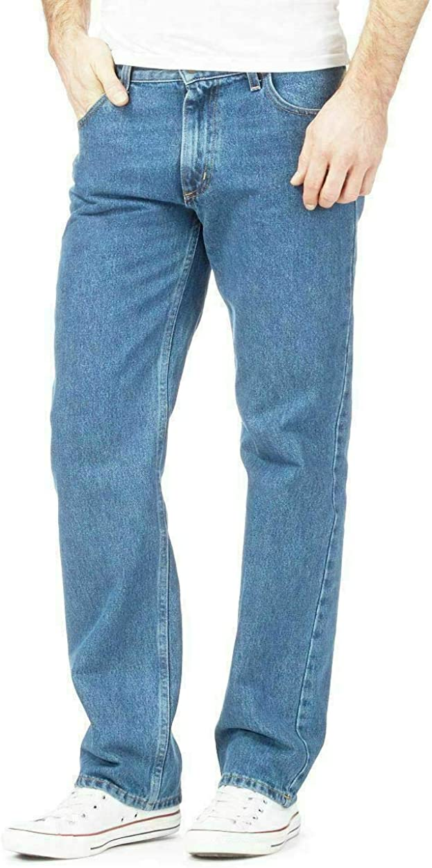 Men's Classic Recommendation Limited price sale 5-Pocket Relaxed Fit Jean Straight Leg Heav Cotton