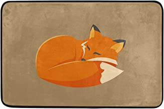 Yochoice Non-slip Door Mat Home Decor, Stylish Sleeping Fox Animal Durable Indoor Outdoor Entrance Doormat 23.6 X 15.7 Inches