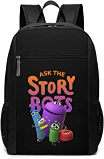 Ask The STO-rybo-TS School Backpack for Girls Boys Kids Teens, Unisex Lightweight Backpack for Men Women College Schoolbag Laptop Backpack Travel Bookbag 17inch Black