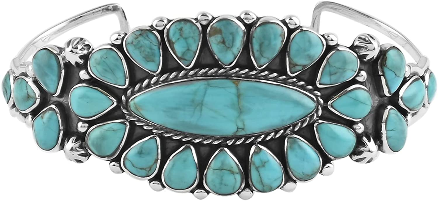 Shop LC Santa Fe Max 42% OFF Style 925 Cuff Turquoise Silver Max 46% OFF Bangle Sterling
