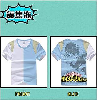 My Hero Academy Men's T-Shirt, Women's Casual Slim Fit Shirt Short Sleeve Tops, Summer Gradient Pattern Fashion Loose tees