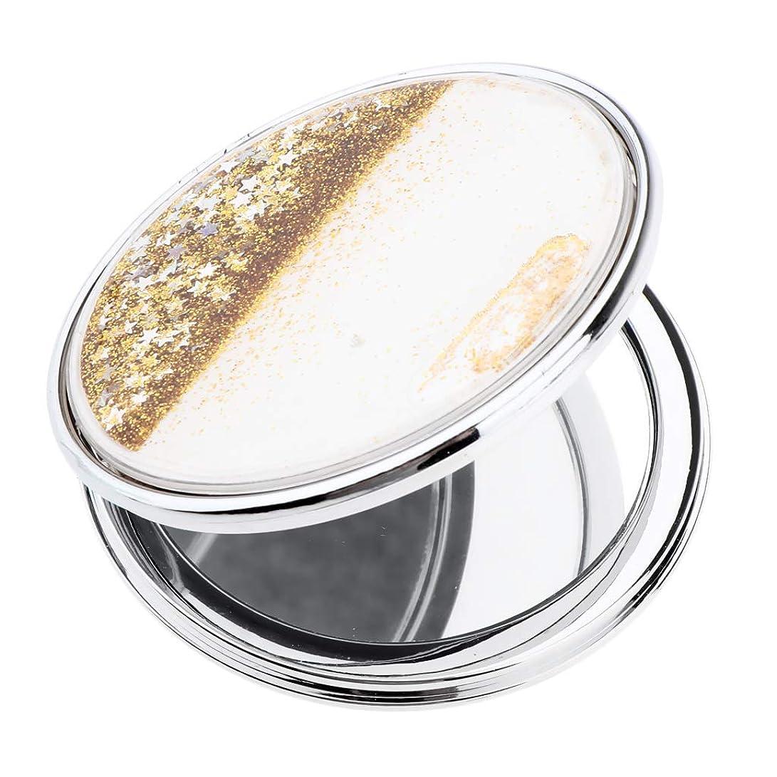 ファブリッククラウドキリマンジャロT TOOYFUL 手鏡 化粧鏡 コンパクトミラー 軽量 丸型 折りたたみプチ手鏡 ハンドミラー 携帯ミラー キラキラ