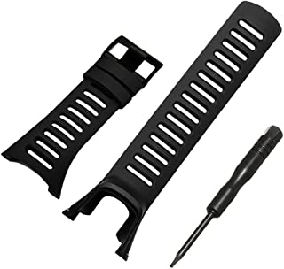 Betterconn Luxury Black Rubber Replacement Watch Band Strap Wristbands for SUUNTO Ambit 3 Peak/Ambit 2/Ambit 12R 2S Series