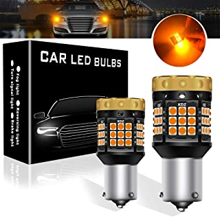 2Pcs Super Bright Amber 1156 BAU15S 7507 PY21W Turn Signal Light 45SMD 1850 Lumens LED Bulb Replacement Error Free, Anti Hyper Flash for Car Front or Rear Turn Signal Light