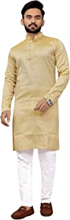 Brand Boy Mens Ethnic Wear Red Dhupioni Silk Kurta Pajama Set