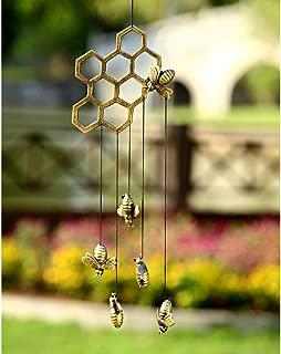SPI Home Aluminum Bees Honeycomb Windchime
