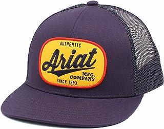 قبعة ARIAT للرجال قابلة للتعديل ذات شعار بيضاوي أزرق داكن شبكية خلفية