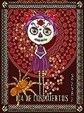 ABLERTRADE Póster metálico Decorativo para Pared, diseño de Calavera de México el día de los Muertos, 20 x 30 cm