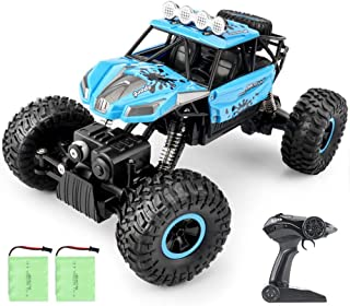 RC Car,YF-TOW 2021 Updated Remote Control Car 2.4Ghz 4WD 1/16 Scale Rc Car with Two Rechargeable Batteries, Electric Toy C...