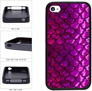 BleuReign(TM) Purple and Pink Mermaid Scales TPU RUBBER Phone Case Back Cover Apple iPhone 4 4s