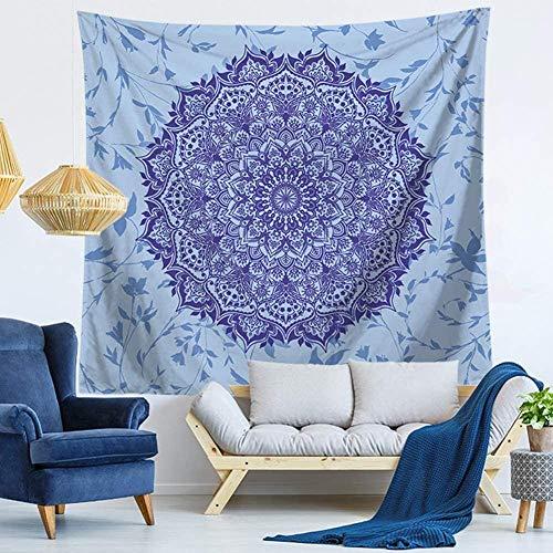 giyiohok Tapiz de mandala hippie con diseño de tapiz para colgar en la pared, toalla de playa, esterilla de yoga, decoración de pared (130 x 150 cm) 150 x 200 cm_Mandala 4