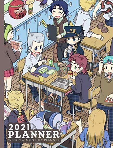 2021 Planner: The Bizarre Adventure of Jojo Adventure Jonathan Joestar Jotaro Kujo Joseph Joestar Japanese Manga Artwork Over 176 Pages, 7,44 X 9,69 ... Journal, Passion, Do It All, Personalized