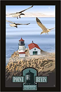 Point Reyes Lighthouse Travel Art Print Poster by Mike Rangner (24