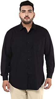 JOHN PRIDE Men Black Coloured Shirt (Sizes: 3XL- 6XL)
