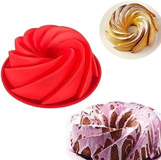 190 * 8 سم قالب كيك من السيليكون على شكل كعكة مع شكل دوامة كبير أدوات المطبخ خبز الكعك طبق الخبز الخبز قالب الخبز