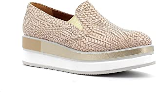 Portofino Scarpe Slip-on con Zeppa, Made in Italy - Colore Beige